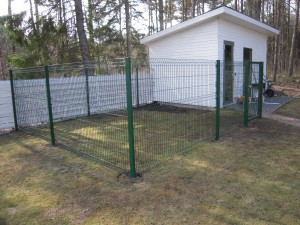 Koeraaedik väravaga, aiapaneelidesta
